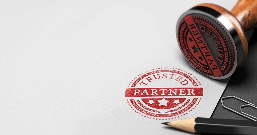 Trusted Partner Mark Imprinted on Paper - Banner Image for CPA's Got Your Back! Blog