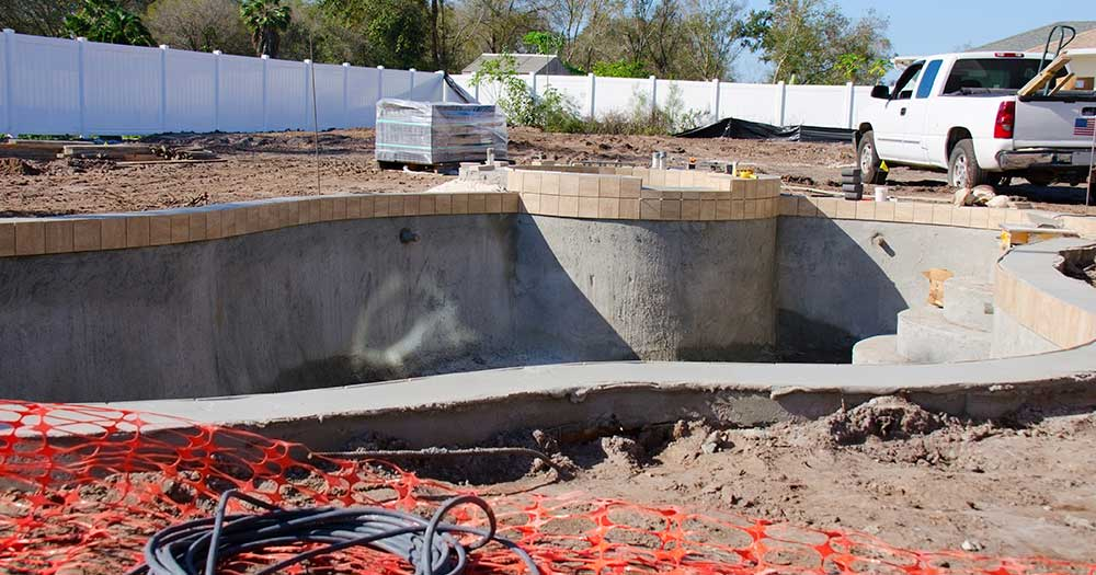 Swimming Pool Construction Site - Banner Image for Get Comfortable with your Truck Blog