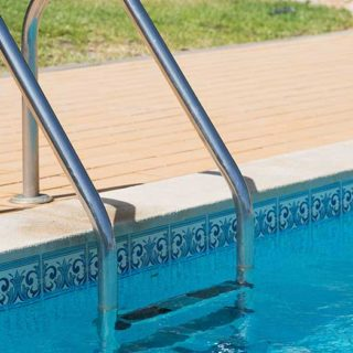 Handrail and Pool - Banner Image for Handy Handrail Tips from Larry's Pool Service Blog