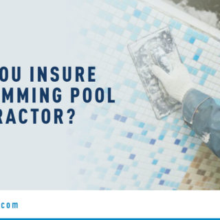 Male Swimming Pool Worker - Banner Image for Can You Insure a Swimming Pool Contractor Blog