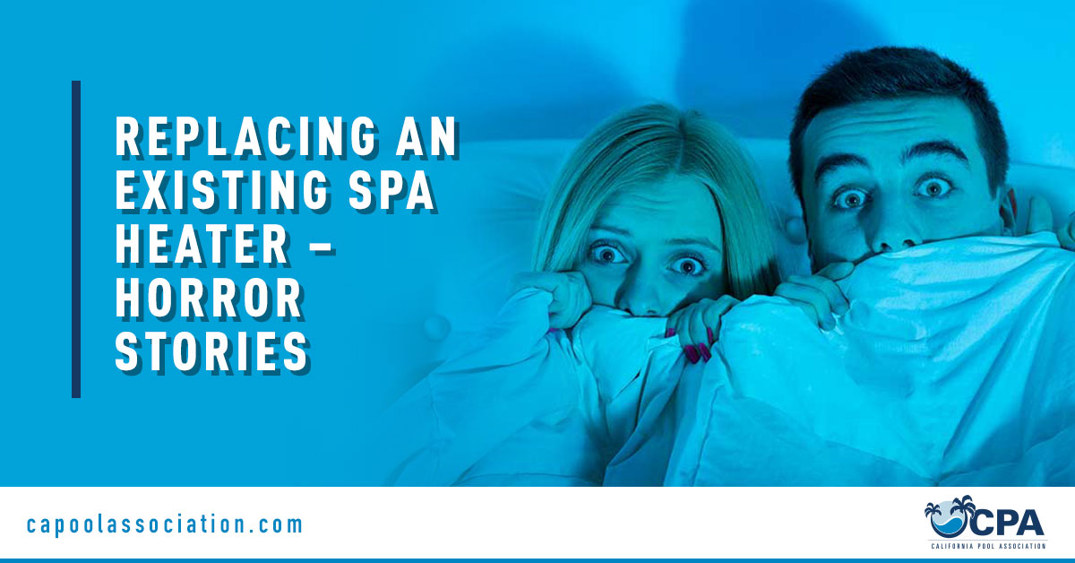Scared Couple - Banner Image for Replacing an Existing Spa Heater – Horror Stories Blog