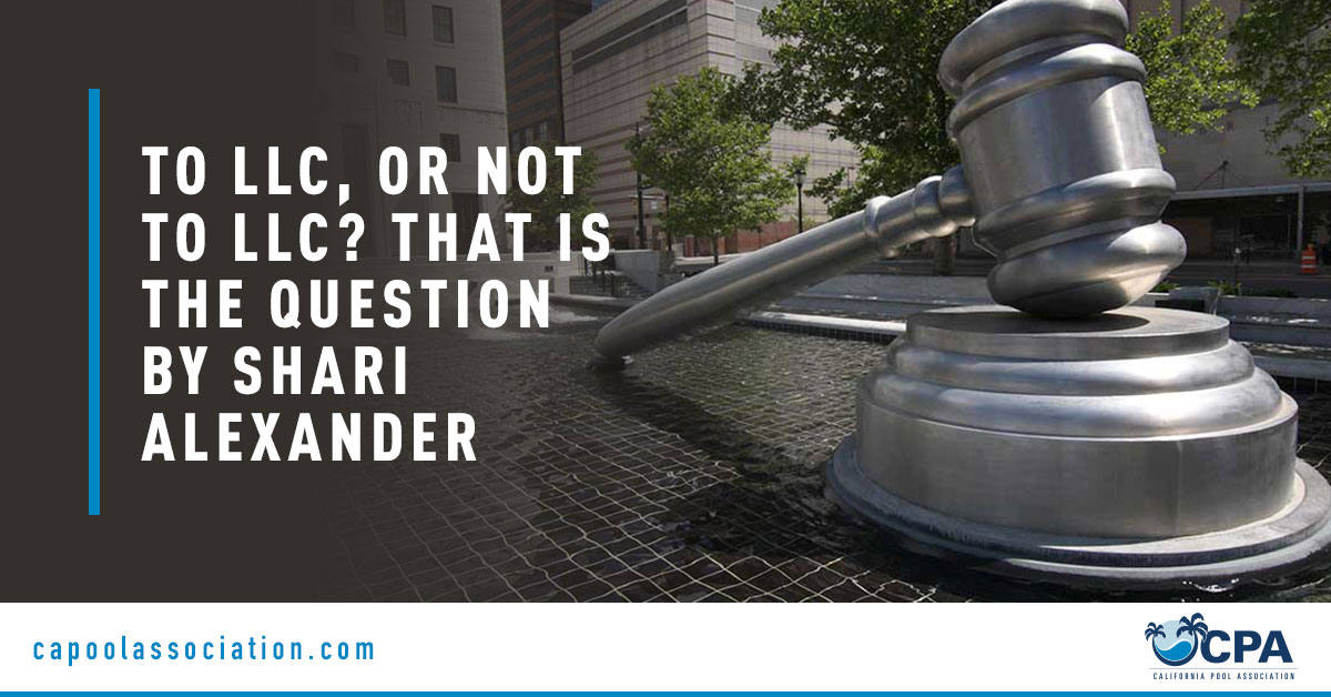 Large Gavel - Banner Image for To LLC, or Not to LLC That Is the Question…by Shari Alexander Blog