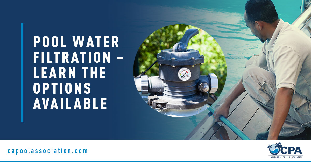 Swimming Pool Worker and Water Filter - Banner Image for Pool Water Filtration – Learn the Options Available Blog