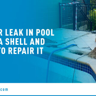 Pool Products on Poolside - Banner Image for Water Leak in Pool or Spa Shell and How to Repair It Blog